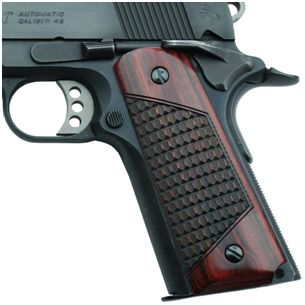 Altamont Crocback 1911 wood grips with ambi safety