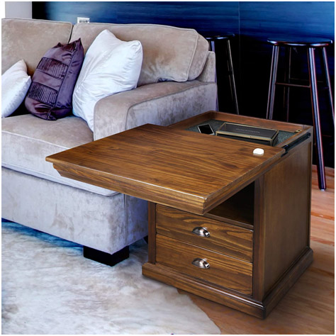 Casual Home Nightstand Compartment